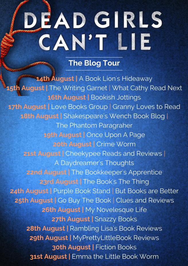 Dead Girls Can't Lie - blog tour banner